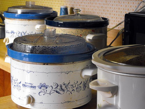 Four slow cookers.... mmm